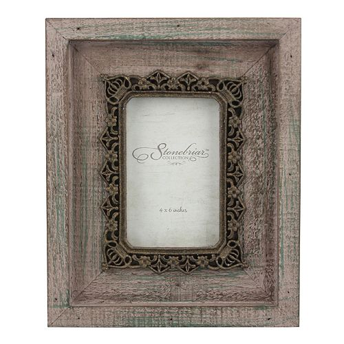 """Stonebriar Collection 4"""" x 6""""  Metal and Wood Frame"""