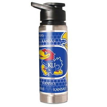 Kansas Jayhawks Stainless Steel Water Bottle