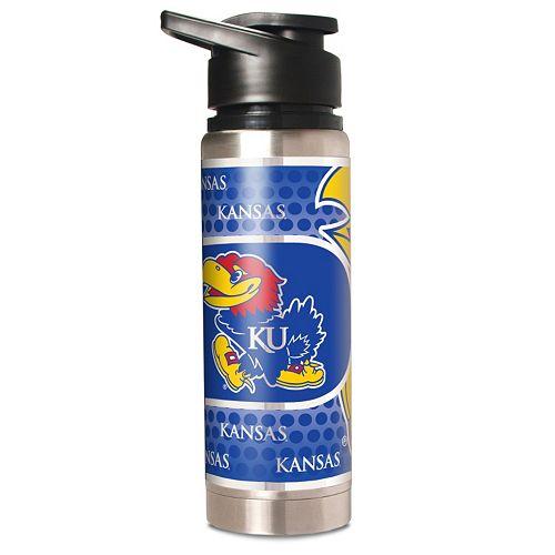 Kansas Jayhawks Stainless Steel Water Bottle