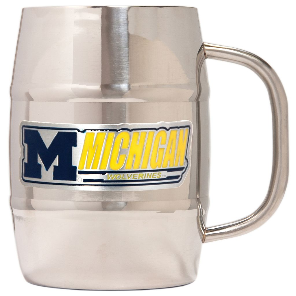 Michigan Wolverines Stainless Steel Barrel Mug