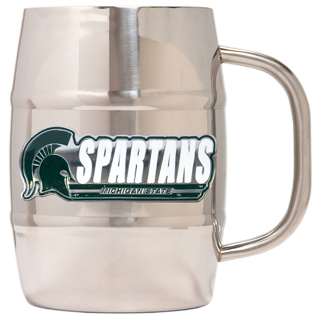 Michigan State Spartans Stainless Steel Barrel Mug