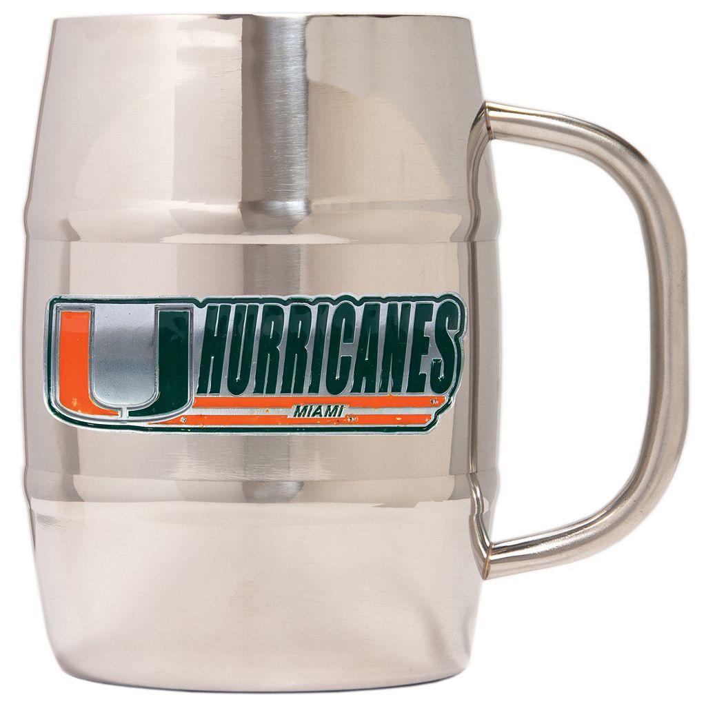 Miami Hurricanes Stainless Steel Barrel Mug