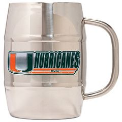 Miami Hurricanes Stainless Steel Barrel Mug
