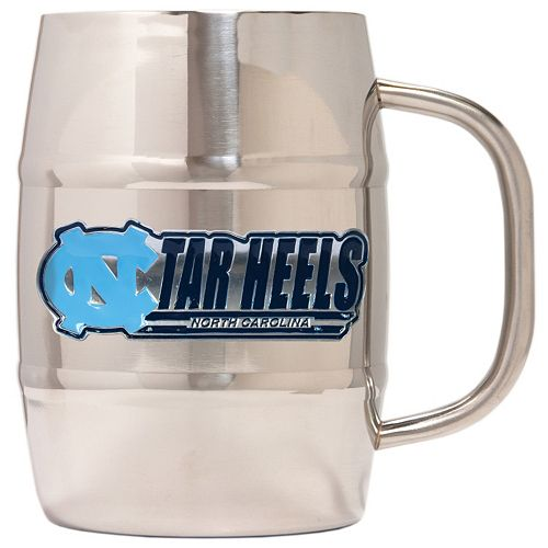 North Carolina Tar Heels Stainless Steel Barrel Mug