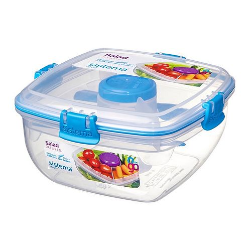 Sistema To Go Square Salad Container