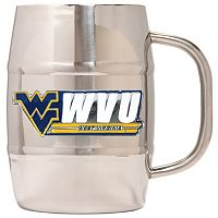 West Virginia Mountaineers Stainless Steel Barrel Mug