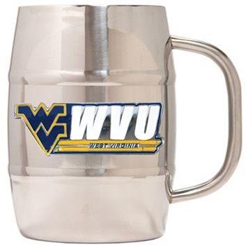 West Virginia Mountaineers Stainless Steel Barrel Mug
