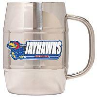 Kansas Jayhawks Stainless Steel Barrel Mug