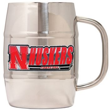 Nebraska Cornhuskers Stainless Steel Barrel Mug