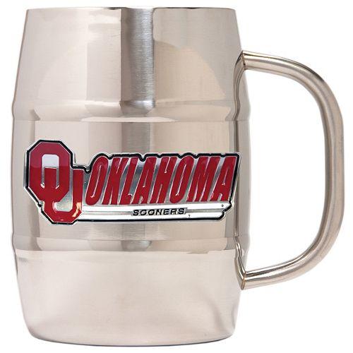 Oklahoma Sooners Stainless Steel Barrel Mug