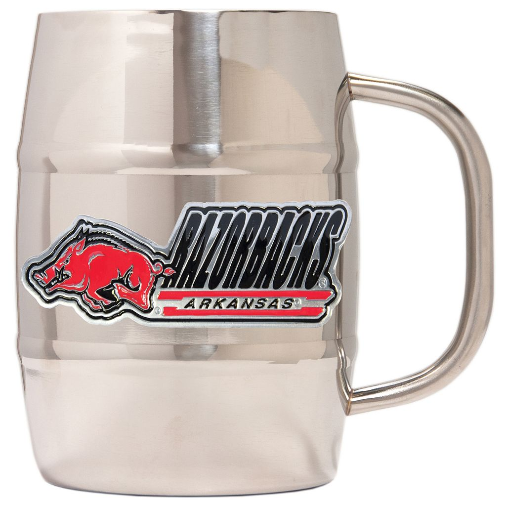 Arkansas Razorbacks Stainless Steel Barrel Mug