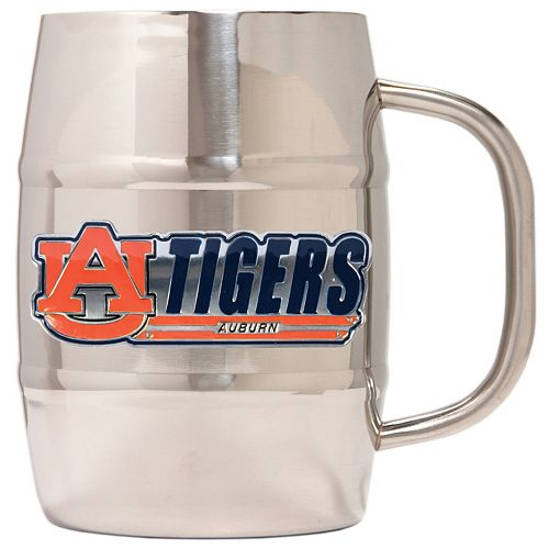Auburn Tigers Stainless Steel Barrel Mug