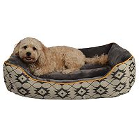 Pet Spaces Print Large Rectangle Cuddler Pet Bed