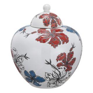 Ceramic Flower Jar with Lid