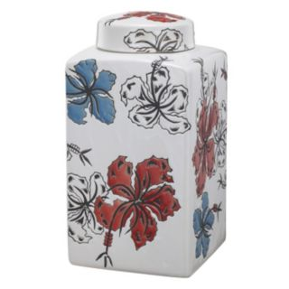 Ceramic Square Lidded Canister