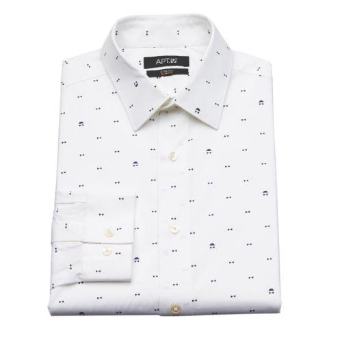 Men's Apt. 9® Bow Tie Slim-Fit Stretch Spread-Collar Dress Shirt