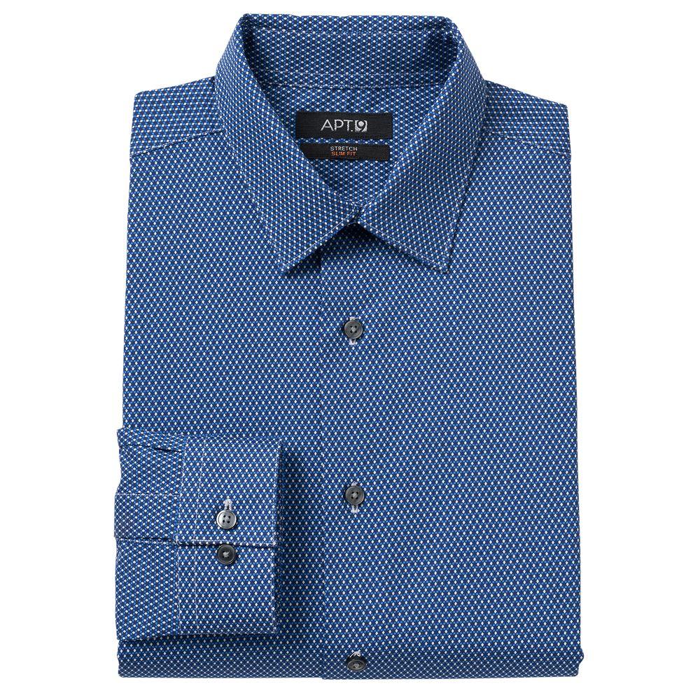 Apt 9 shirt size chart apt 9 slim fit stretch spread for Apartment 9 dress shirts