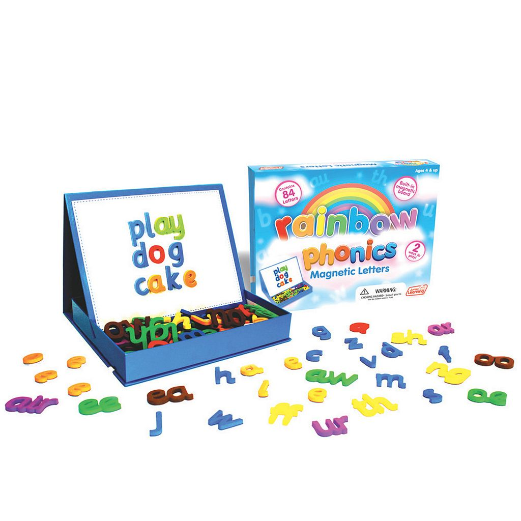 Junior Learning Rainbow Phonics Magnetic Letters & Built-In Magnetic Board