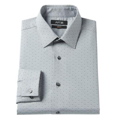 Men's Apt. 9® Slim-Fit Patterned Stretch Spread-Collar Dress Shirt