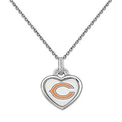 Chicago Bears Heart Pendant Necklace