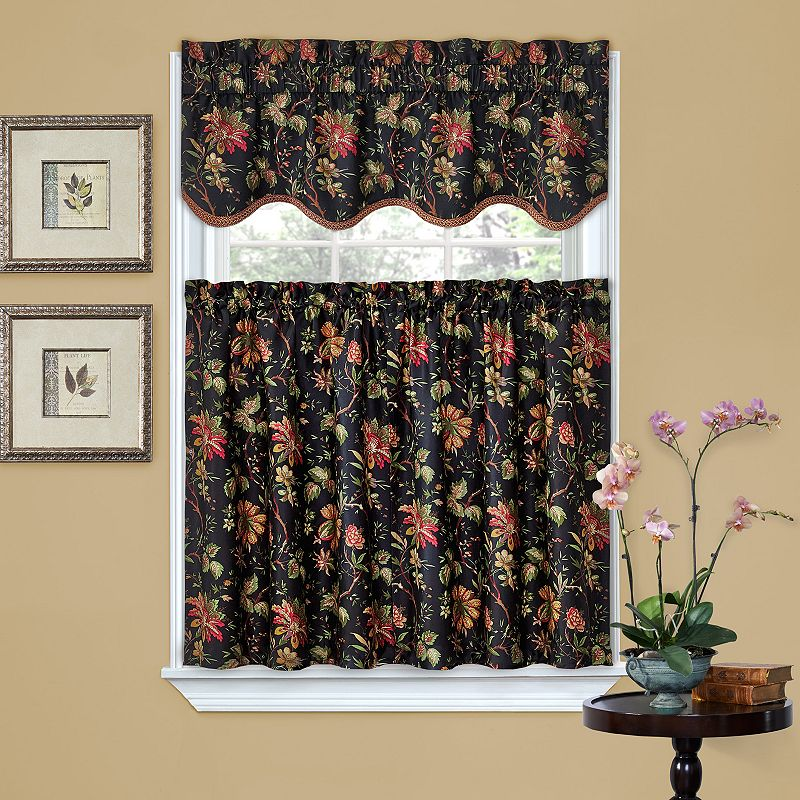 Waverly Felicite Tier Kitchen Window Curtain Set 60 X 36