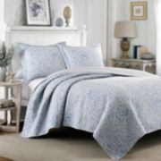 Laura Ashley Lifestyles Mia Reversible Quilt Set