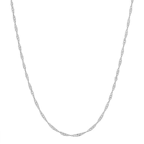 Sterling Silver Adjustable Twisted Curb Chain Necklace