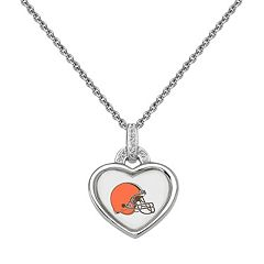 Cleveland Browns Heart Pendant Necklace