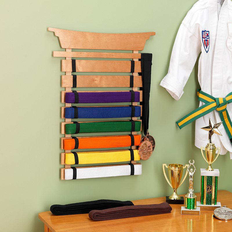 KidKraft Martial Arts Belt Holder, Multicolor
