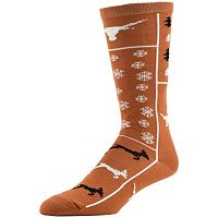 Women's Texas Longhorns Ugly Sweater Crew Socks
