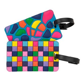 Travelon Jewel Mosaic 2-Pack Luggage Tags
