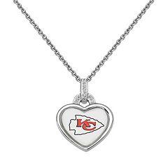 Kansas City Chiefs Heart Pendant Necklace