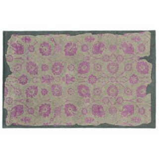 PANTONE UNIVERSE™ Color Influence Eroded Ornate Floral Rug