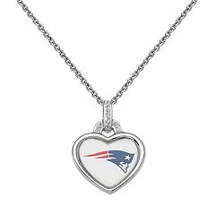 New England Patriots Heart Pendant Necklace