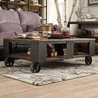 HomeVance Stratton Industrial Coffee Table
