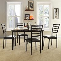 HomeVance 5 pc Stinson Faux Marble Dining Set
