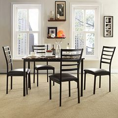 HomeVance 5-piece Stinson Faux Marble Dining Set by