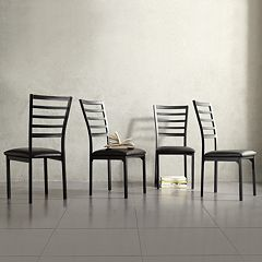 HomeVance 4 pc Stinson Dining Chair Set