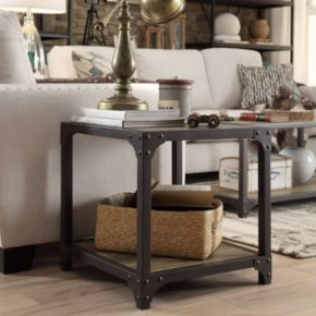 HomeVance 3-piece Donovan Industrial Table Set