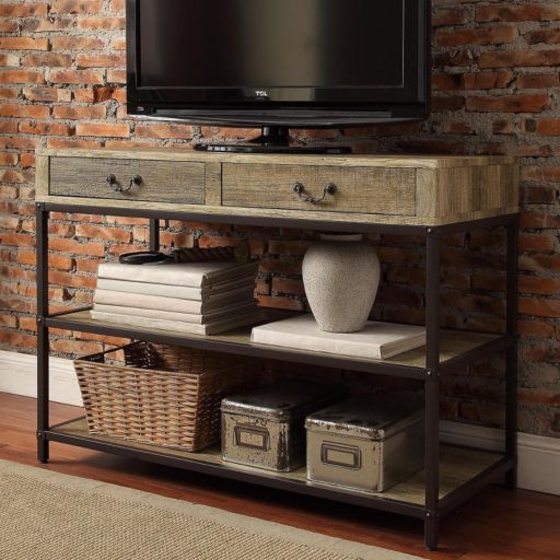 HomeVance Donovan Industrial TV Stand