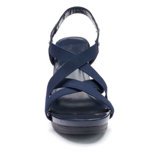Chaps Women's Strappy Wedge Sandals