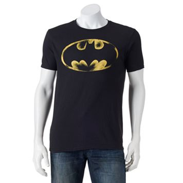 Men's Batman Distressed Logo Tee
