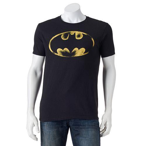 Men's Batman Distressed Logo Tee