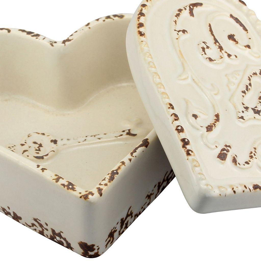 Stonebriar Collection Ceramic Heart Box