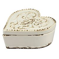 Stonebriar Collection Ceramic Heart Box