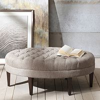Deals on Madison Park Chase Ottoman + $20 Kohls Cash