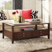 HomeVance Eastman 2-Drawer Coffee Table