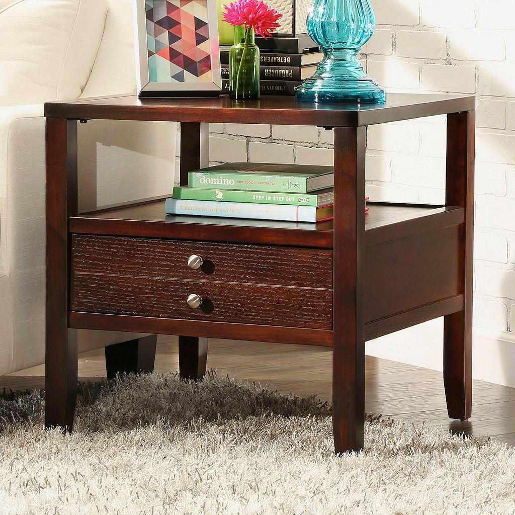 HomeVance Eastman 1-Drawer End Table