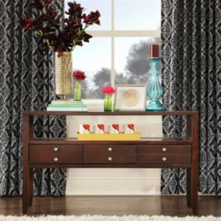 HomeVance Eastman 3-Drawer Console Table