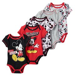 Disney's Mickey Mouse 5-pk. 'Just Chillin' Bodysuits - Baby Boy